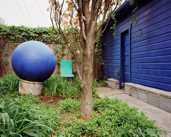 Blue Ball, Blue Wall - Wicker Park - Chicago, IL  2003